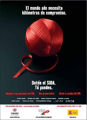 Cartel oficial de la lucha contra elSIDA