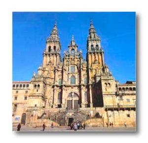 Plaza del Obradoiro con la Catedral de Santiago alfondo